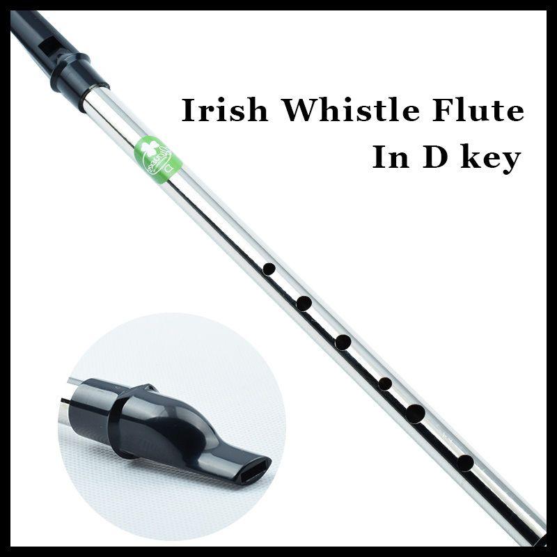 Irlandais Sifflet Flûte Irlande Musical Instrument Professionnel Pipeau Tin Whistle et Flauta Métal Mini Tinwhistle D Hot Key