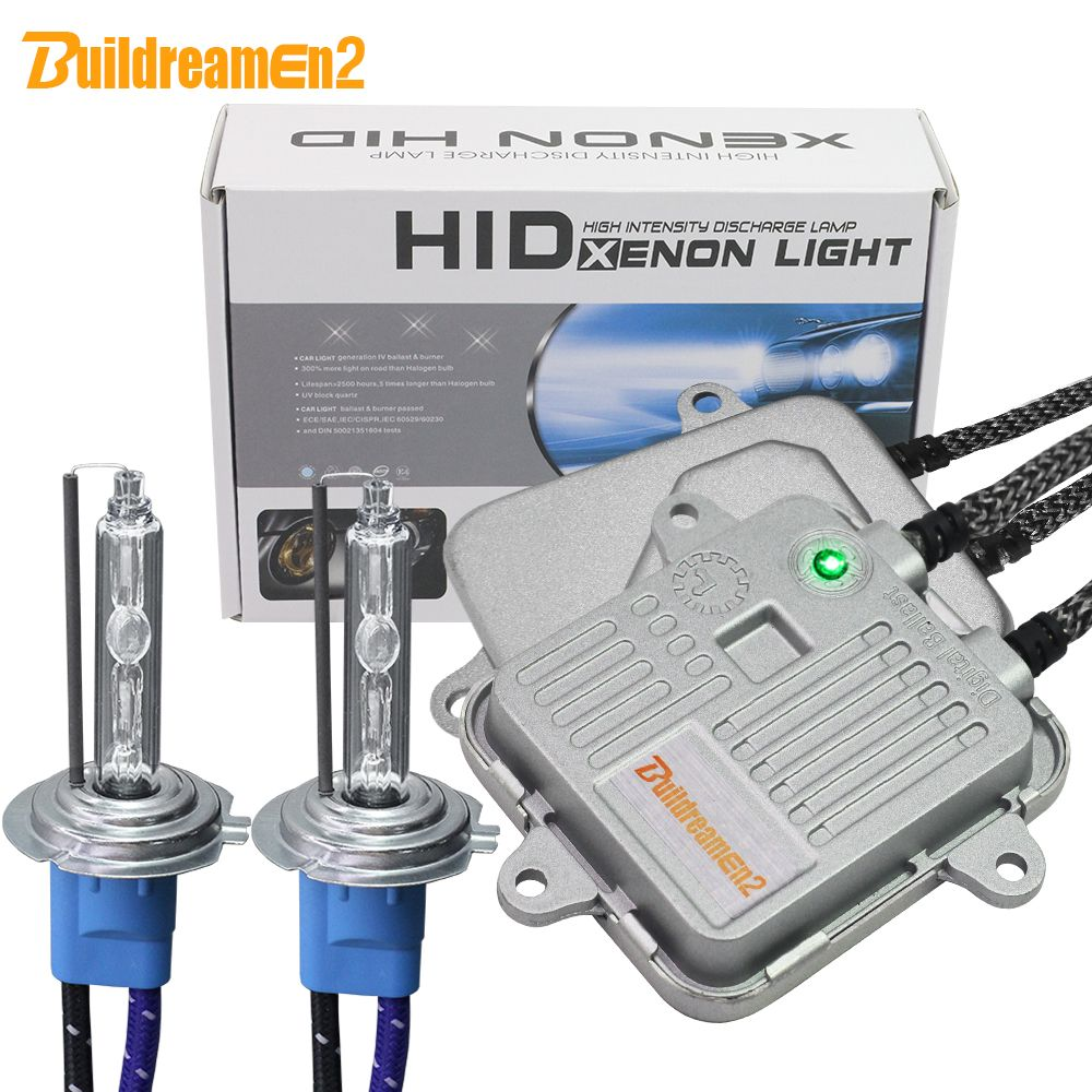 Buildreamen2 55W 10000LM High Bright AC Xenon Kit Ballast Lamp Car Headlight Fog Light H1 H3 H7 H8 H9 H11 9005 9006 5000K White