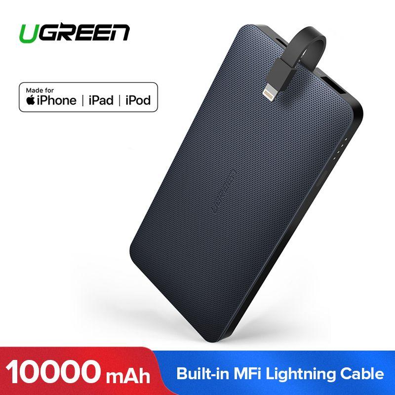 Ugreen Power Bank 10000mAh External Phone Battery Charger for iPhone XS 8 Xiaomi Samsung S8 Huawei P20 Portable Poverbank 10000