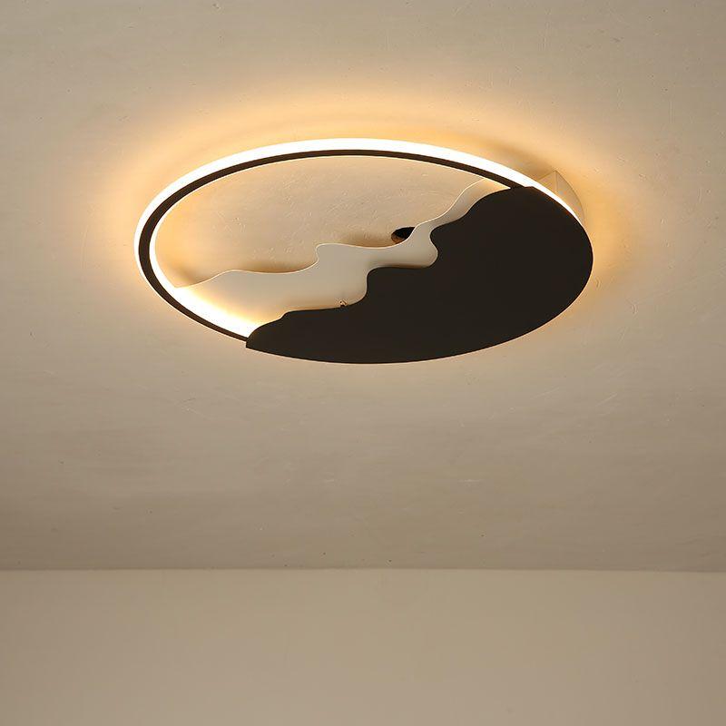 Lustre Black Round Ceiling Lights for Living room Bedroom Kids children bedroom Ceiling lamp Surface mounted Lighting fixtures