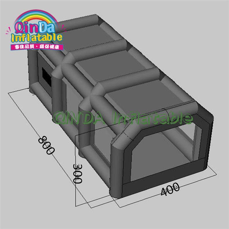 Benutzerdefinierte Tragbare Verwendet Auto Aufblasbare Farbspritzkabine für Verkauf 8*4*3 meter