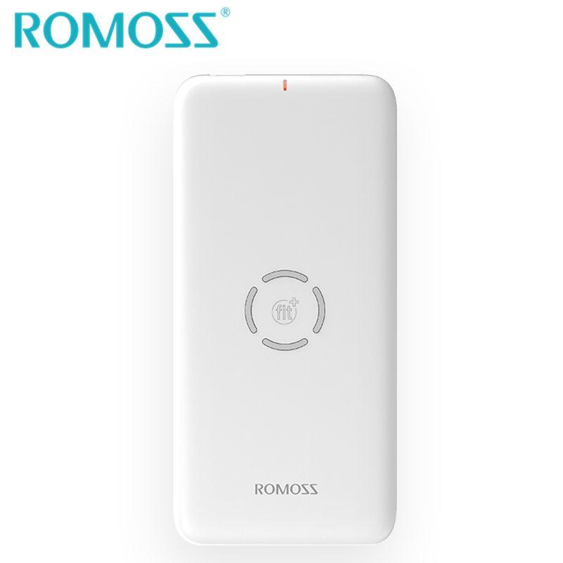 Chargeur batterie externe sans fil ROMOSS 10000 mAh batterie externe de secours chargeur sans fil pour iPhone 8/8 Plus/X/XS/XS max S8 +