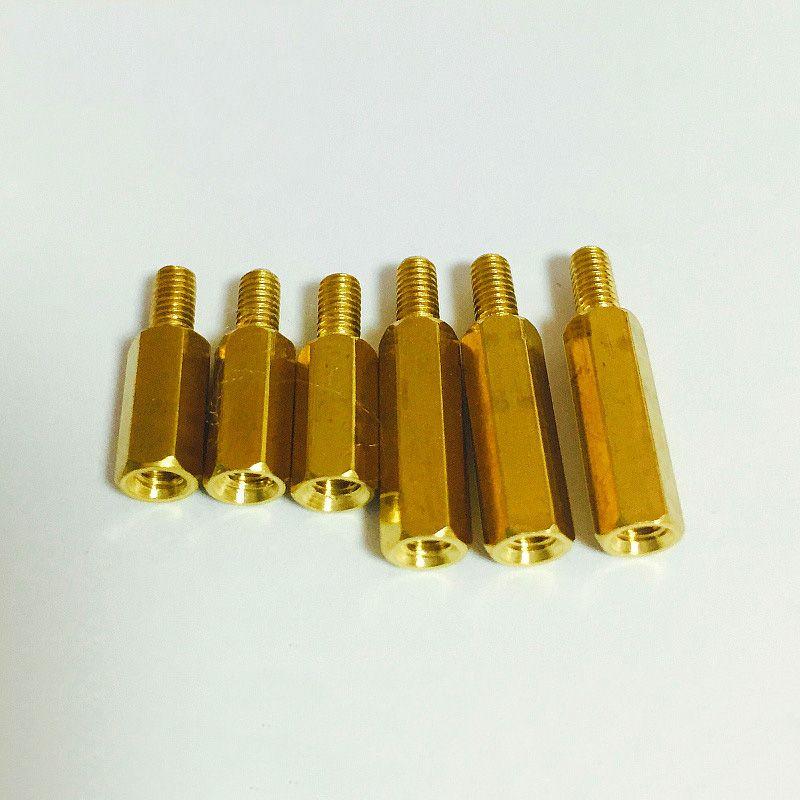 3PCS Single Head Hexagonal Copper Pillar Isolated Column / Support Column  M5*10/15...35mm