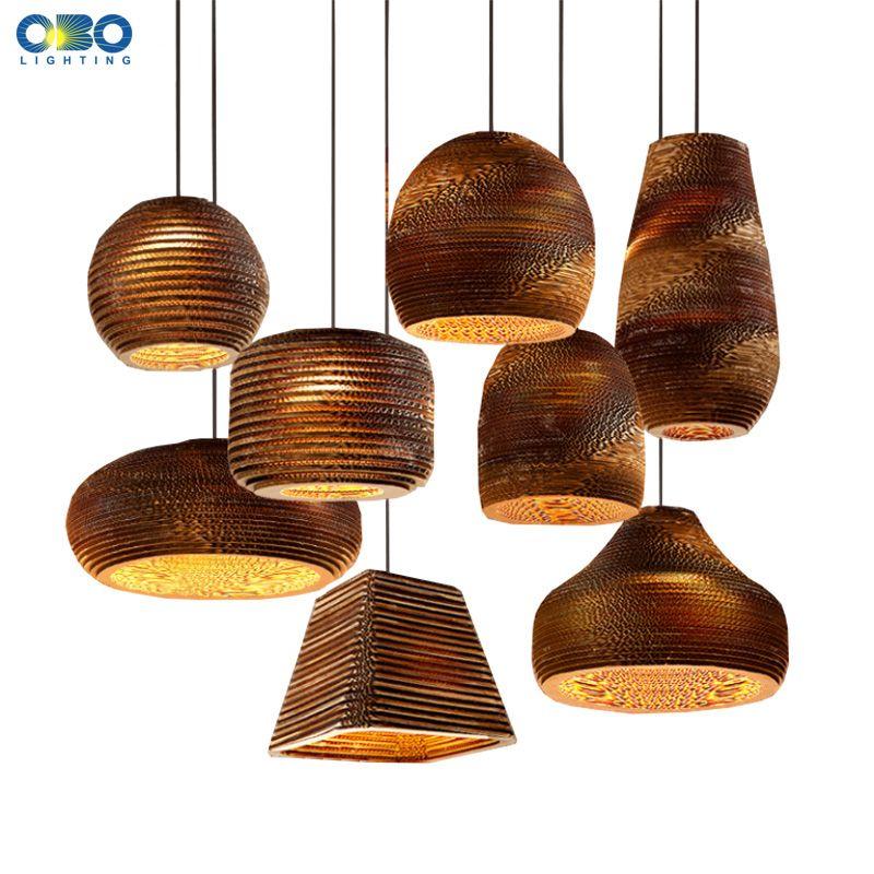 Creative Vintage papier nid d'abeille suspension lampe intérieure Bar ornement éclairage E27 porte-lampe 110-240 V livraison gratuite