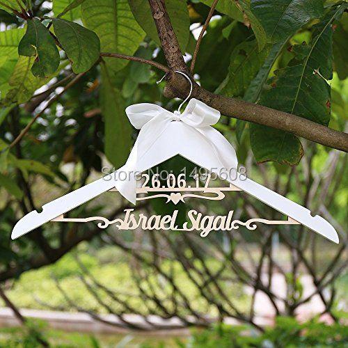 Custom wedding hangers/ wedding dress hanger with name and date/Bridal shower hanger/Bridesmaid gift