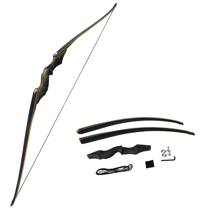 60Inch Archery American Hunting Recurve Bow Takedown Bow Draw Weight 30-60lbs Right Hand Composite Bow Handle arco e flecha