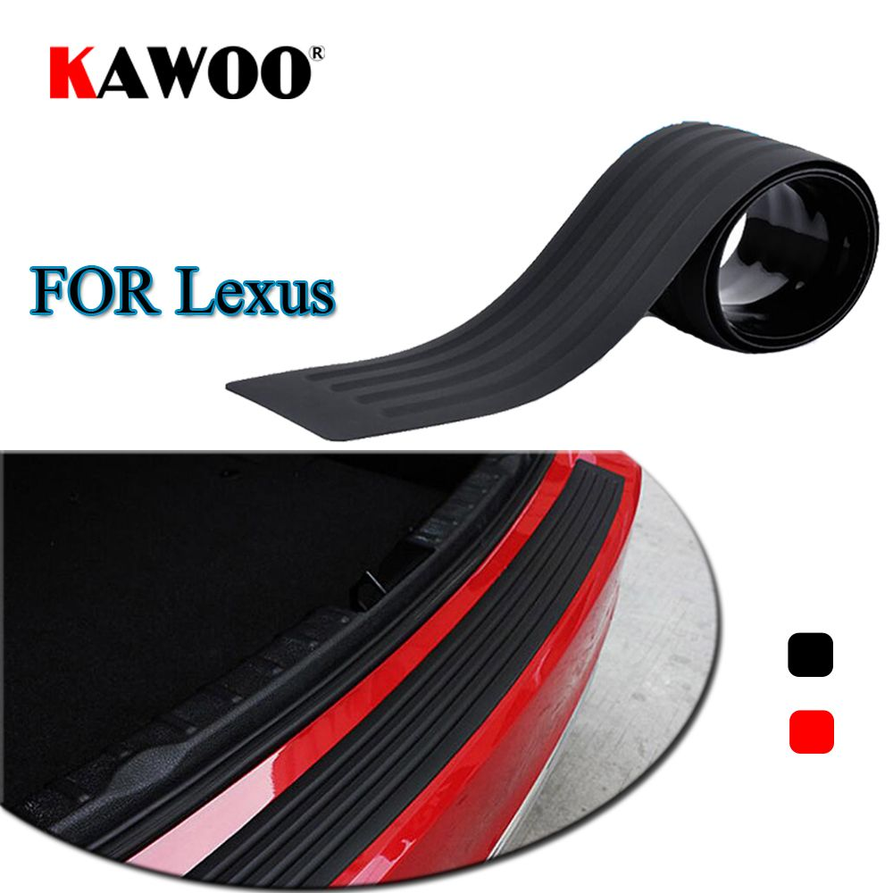 KAWOO For Lexus LS460L RX350 GT200H ISF GX470 IS300 GS350 Rubber Rear Guard Bumper Protect Trim Cover Sill Mat Pad Car Styling