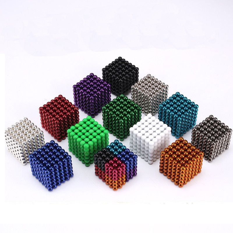 MagneticBall 5mm 216pcs Buliding Educational Neo <font><b>Cube</b></font> Magic Blocks Anxiety Stress Toys Gift Christmas Magico Cubo With Metal Box