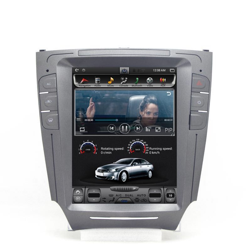 Chogath auto multimedia player android 7.0 2 + 32G vertikale bildschirm auto gps navigation 10,4 zoll für IS250 2006- 2012