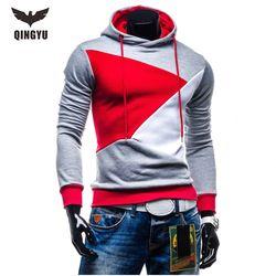 2018 Hoodies Men Sudaderas Hombre Hip Hop Mens Brand Hit Color Stitching Hooded Men Hoodies Sweatshirt Slim Fit Men Hoody XXL