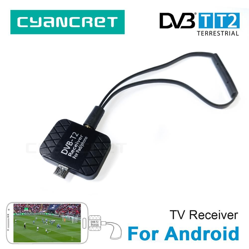 DVB-T2 DVB-T HD Digital TV Tuner TV Receiver for Android Mobile Phone Tablet Pad TV HDTV Dongle with Micro USB Two Antenna