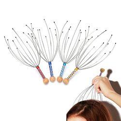 1Pcs Hot Sale Head Massager Neck Massage Octopus Scalp Stress Relax Spa Healing Alloy Wholesale
