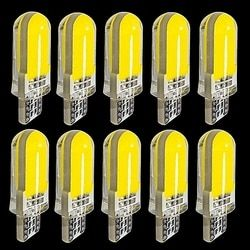 10PCS T10 2825 WY5W W5W 12Chips COB LED Silica Gel Waterproof Wedge Light 501 Silicone Shell Car Marker Lamp Auto Turn Side Bulb
