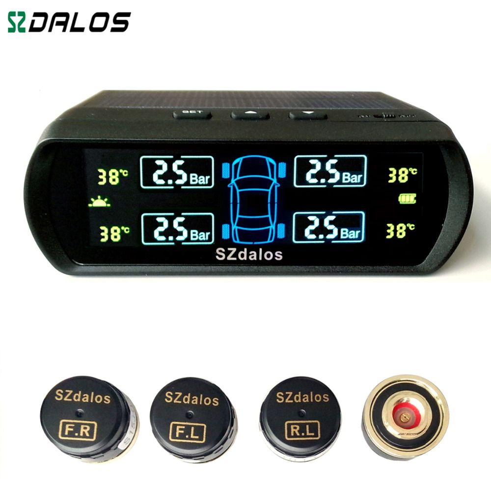 SZDALOS Solar TPMS  newest technology Car Tire Diagnostic-tool with mini external sensor superior quality Wireless TPMS