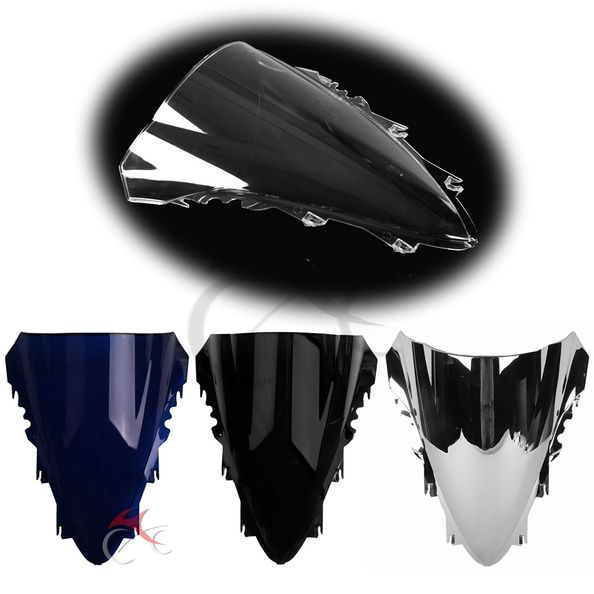 Motorcycle Windscreen Windshield Screen Double Bubble For YAMAHA YZF R1 YZF-R1 2007 2008