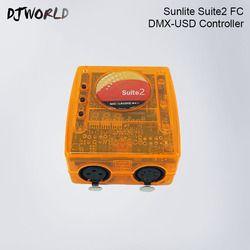 Satg contrôle logiciel Sunlite Suite2 FC DMX Contrôleur DJ équipement Canal sans fil LED Par Tête Mobile Spots DJ