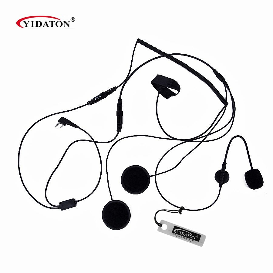 1PC Hot 2 Pin Finger PTT Motorcycle Helmet Headset Microphone for Walkie Talkie For Kenwood Baofeng Retevis TYT Radio