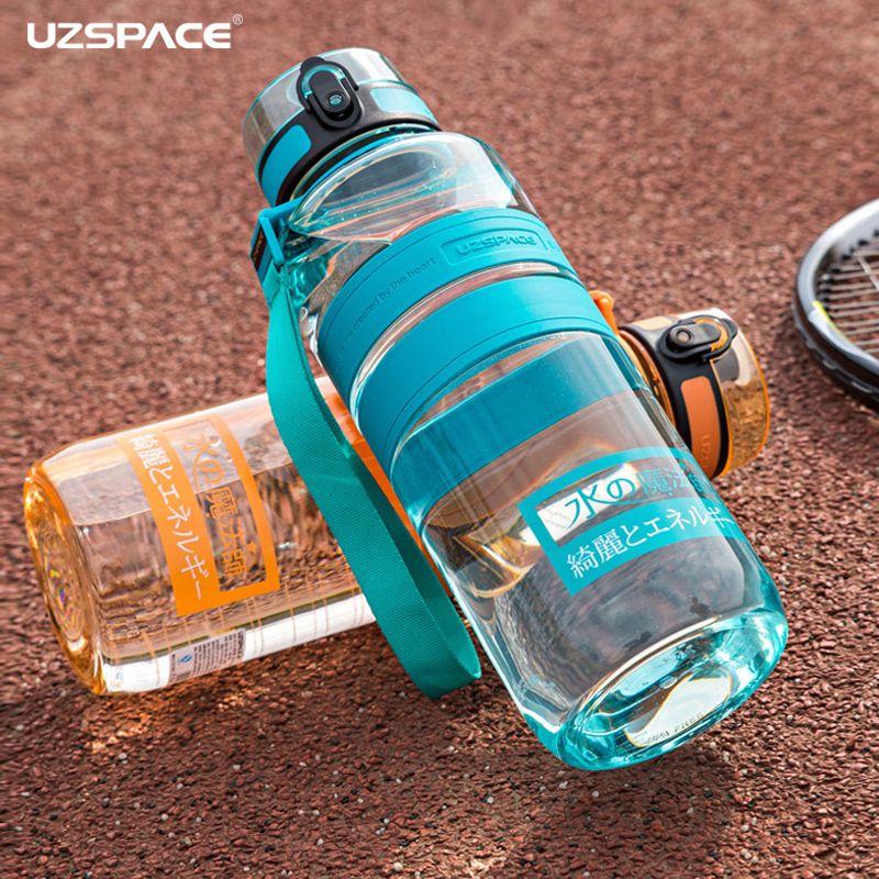 UZSPACE 1500 ml ions Négatifs Soins de bouteilles d'eau Portable Sports de Plein Air Voyage Randonnée bouilloire Écologique Tritan (sans bpa)
