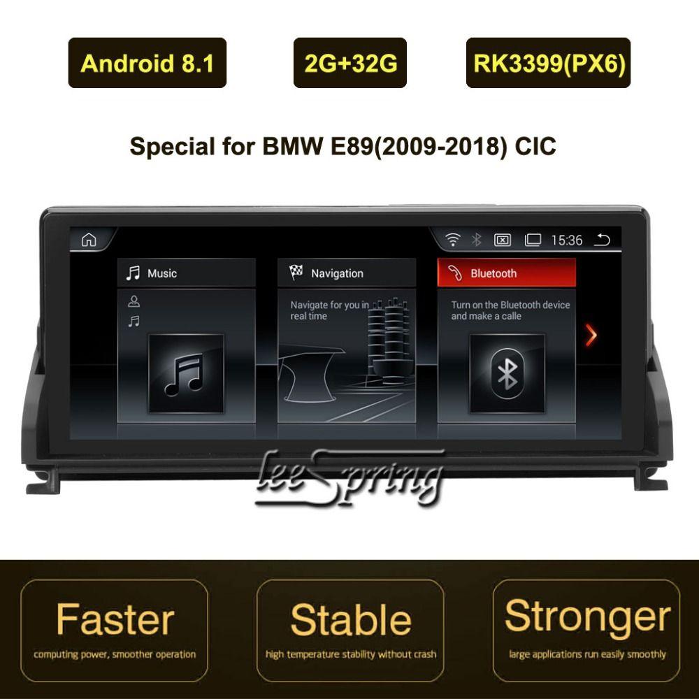 10,25 inch IPS Bildschirm Android 8.1 Auto GPS Navigation für BMW Z4 E89 (2009-2018) original Auto CIC System