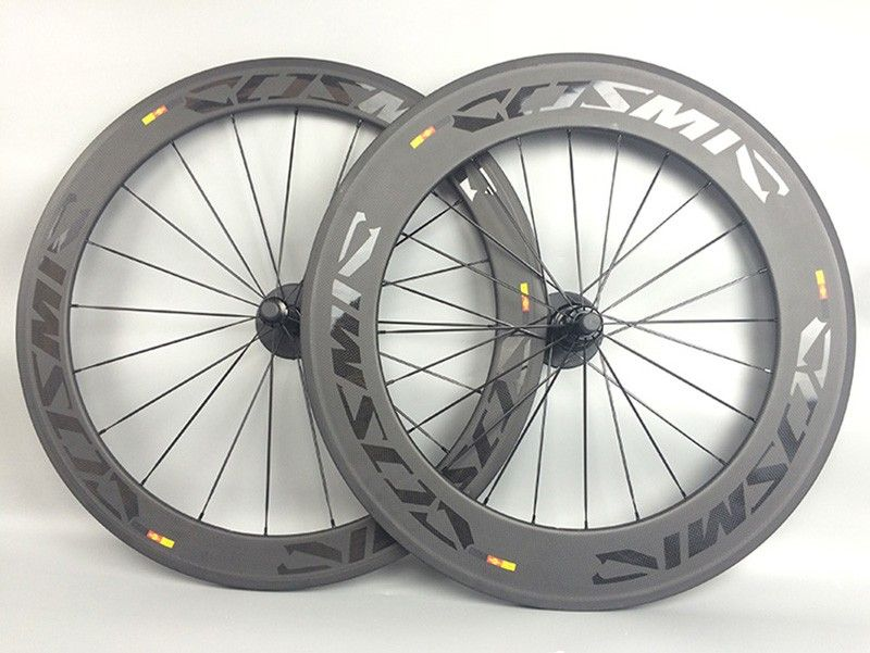 60+88mm Road Bicycle Carbon Bike Wheels 700C 23mm width Clincher Tubular Cycling Road Bike Carbon Wheelset with Basalt Brake