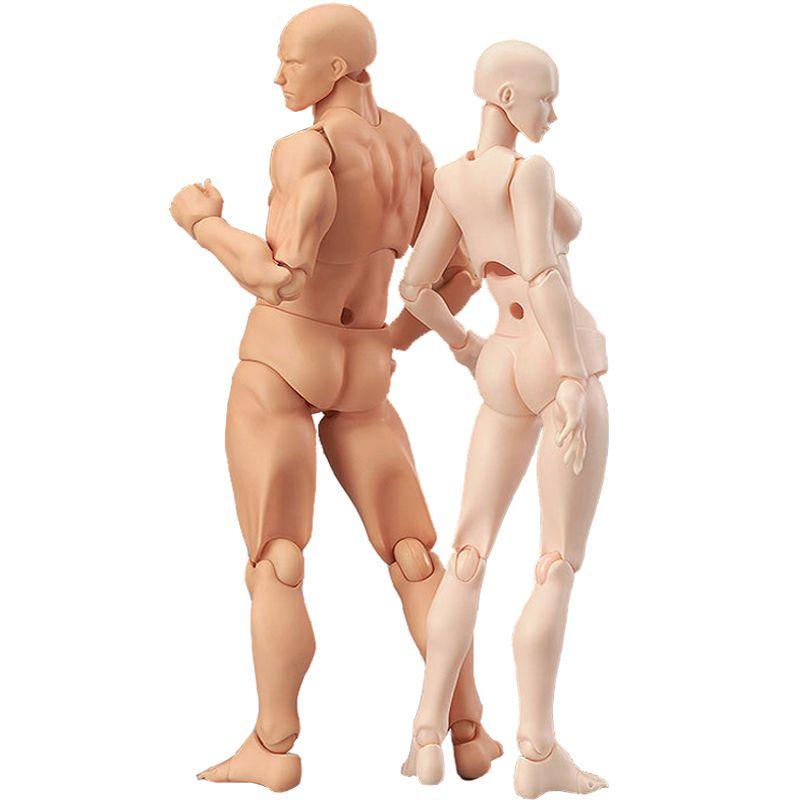 13 cm Figure d'action jouets artiste mobile mâle femelle Joint figure PVC corps figures modèle Mannequin bjd Art croquis dessiner figurine