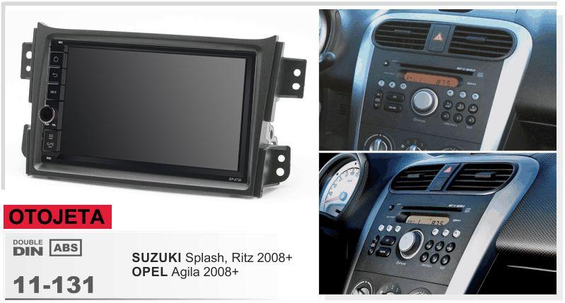 Navirider GPS Bluetooth stereo android 9.1 auto multimedia für suzuki Splash ritz opel agila 2008 NAVI auto radio + rahmen + kamera