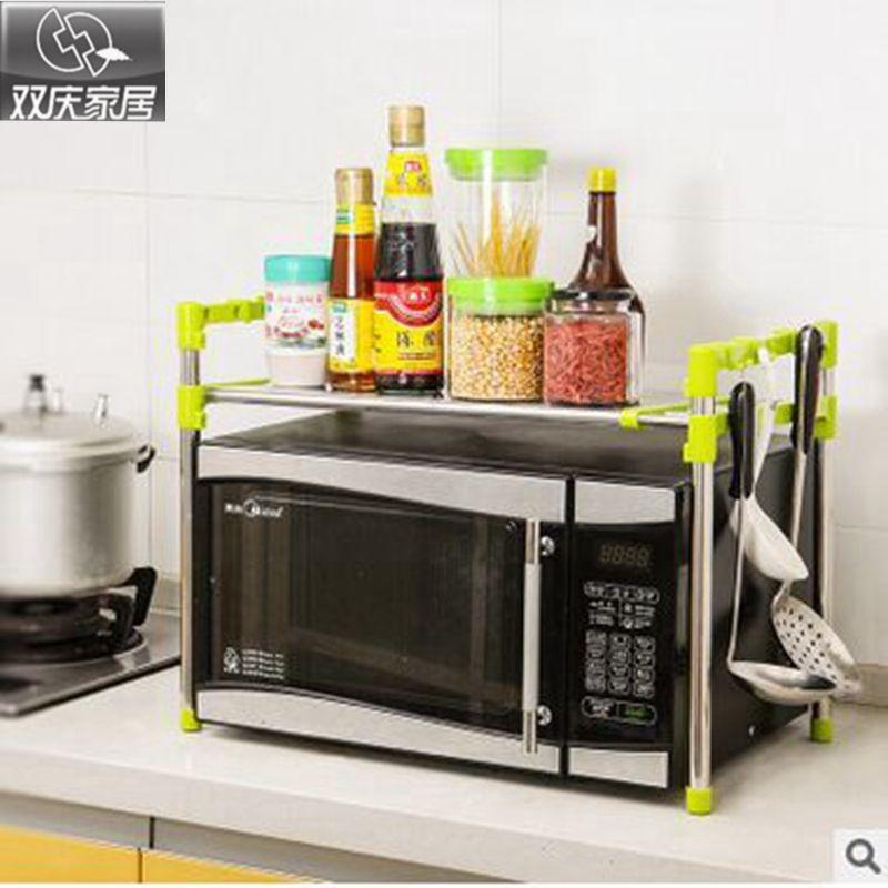 Plateau à usages multiples avec double couches qualité supérieure micro-ondes ou four étagères de stockage de cuisine et extension organisateur de salle de bain