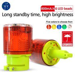 Solar LED luz de emergencia/-Solar powered luces de advertencia/Faro de luz/luces de alarma de Tráfico/grúa torre lámpara