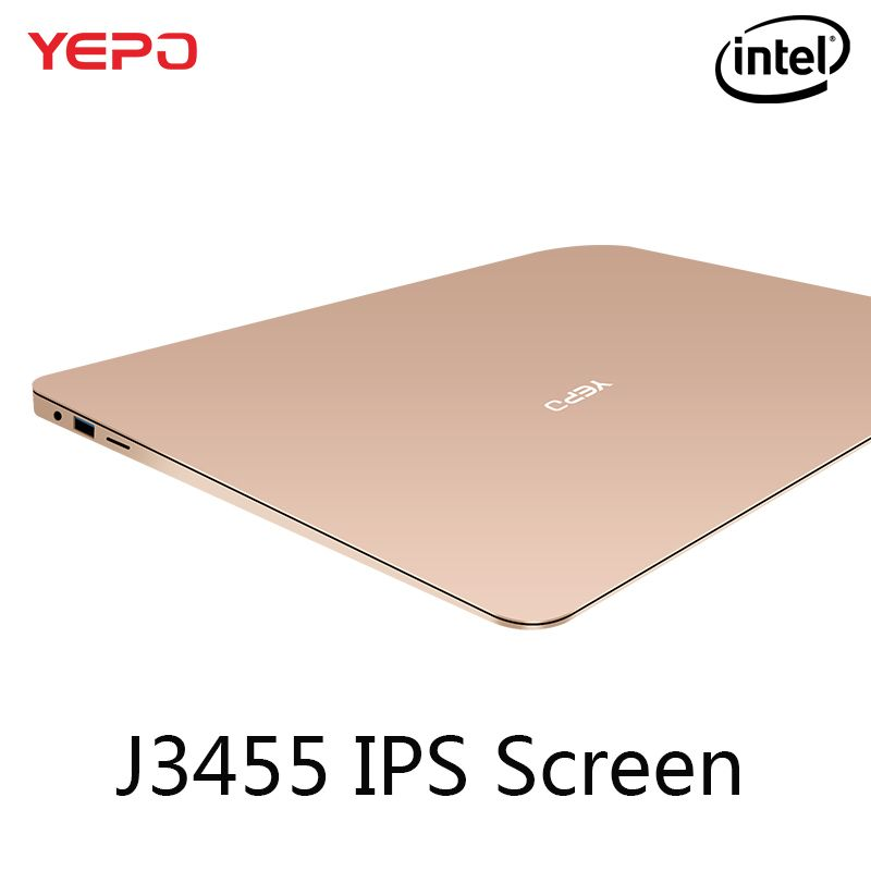 YEPO Laptop 13.3 inch IPS Screen Ultrabook Gaming Laptops Intel J3455 Win10 Notebook Computer With 6GB RAM 64GB 128GB 256GB SSD