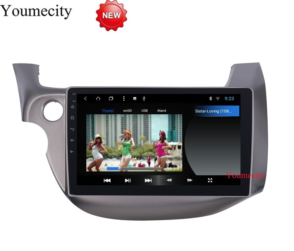 10.1 Octa Core Android 8.1 Car DVD GPS for HONDA FIT JAZZ 2007 2008 2009 2010 2012 2013 radio video player Capacitive 1024*600