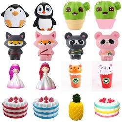 star deer teeth Cotton candy Jumbo Squishy Cute Unicorn Whale Cake Squishies Slow Rising Cream Scented Squeeze Toy Phone Strap