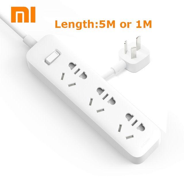 XiaoMi Power Streifen 5 Mt/1 Mt kabel Mijia 3 Steckdosen Steckdose Stromrichter Adapter Mi Elektrische Multi Adapter