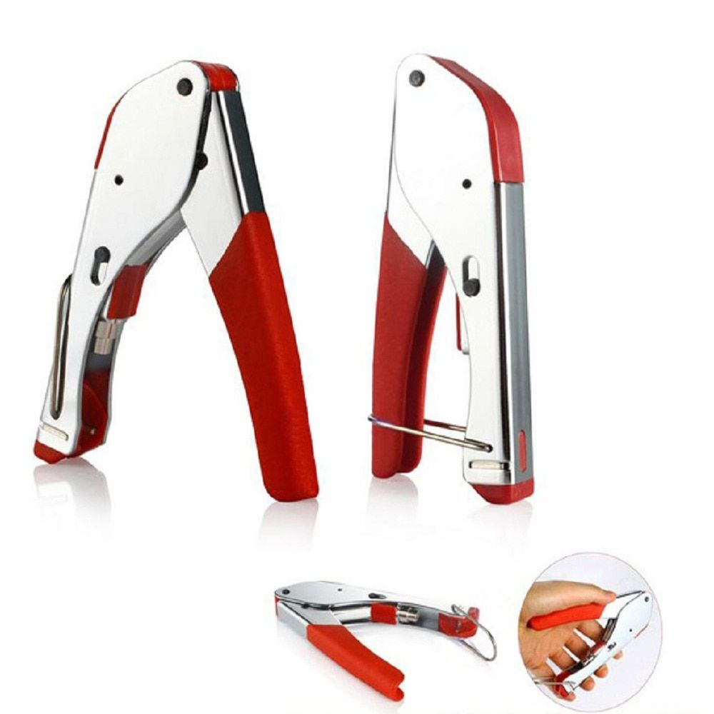 RG59/RG6 Coaxial Plier Network Cable Stripper Wire Crimper Stainless Steel