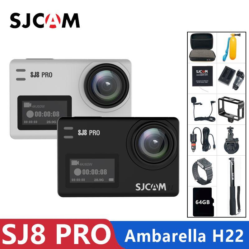 Original SJCAM SJ8 Pro Action Kamera 4 K 60FPS WiFi Fern Helm Kamera Ambarella Chipset 4K @ 60FPS Ultra HD extreme Sport DV