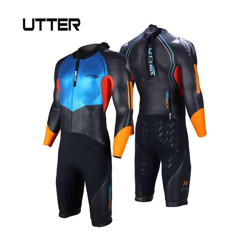 AUSSPRECHEN Männer Glatte Haut Swimrun Kurze Beine SCS Yamamoto Neopren Badeanzug Triathlon Anzug Neoprenanzug für Surfen Wassersport Bademode