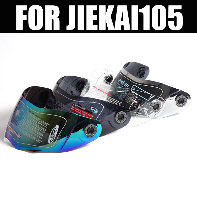 Model JIEKAI 105 visor motorbike flip up helmet lens anti-fog / clear / multicolour /silver lens jiekai helmet lens
