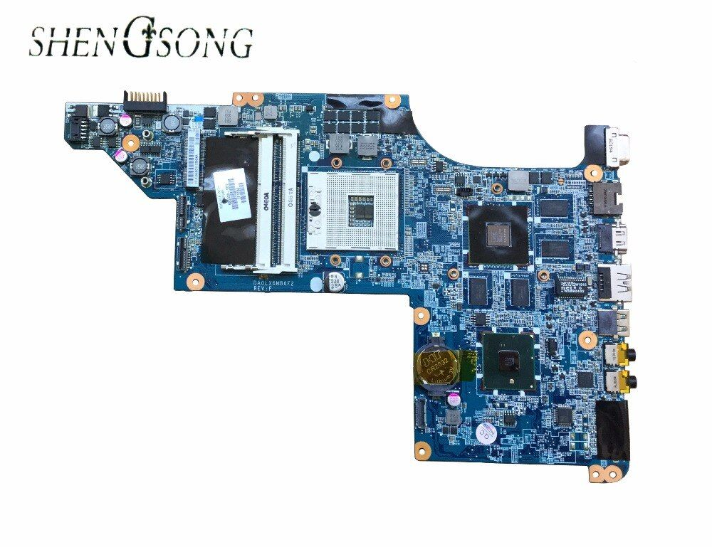 615307-001 Free shipping laptop motherboard for HP Pavilion DV7-4000 DA0LX6MB6F1 605320-001 HM55 DDR3 HD5650 1G Support I7 CPU