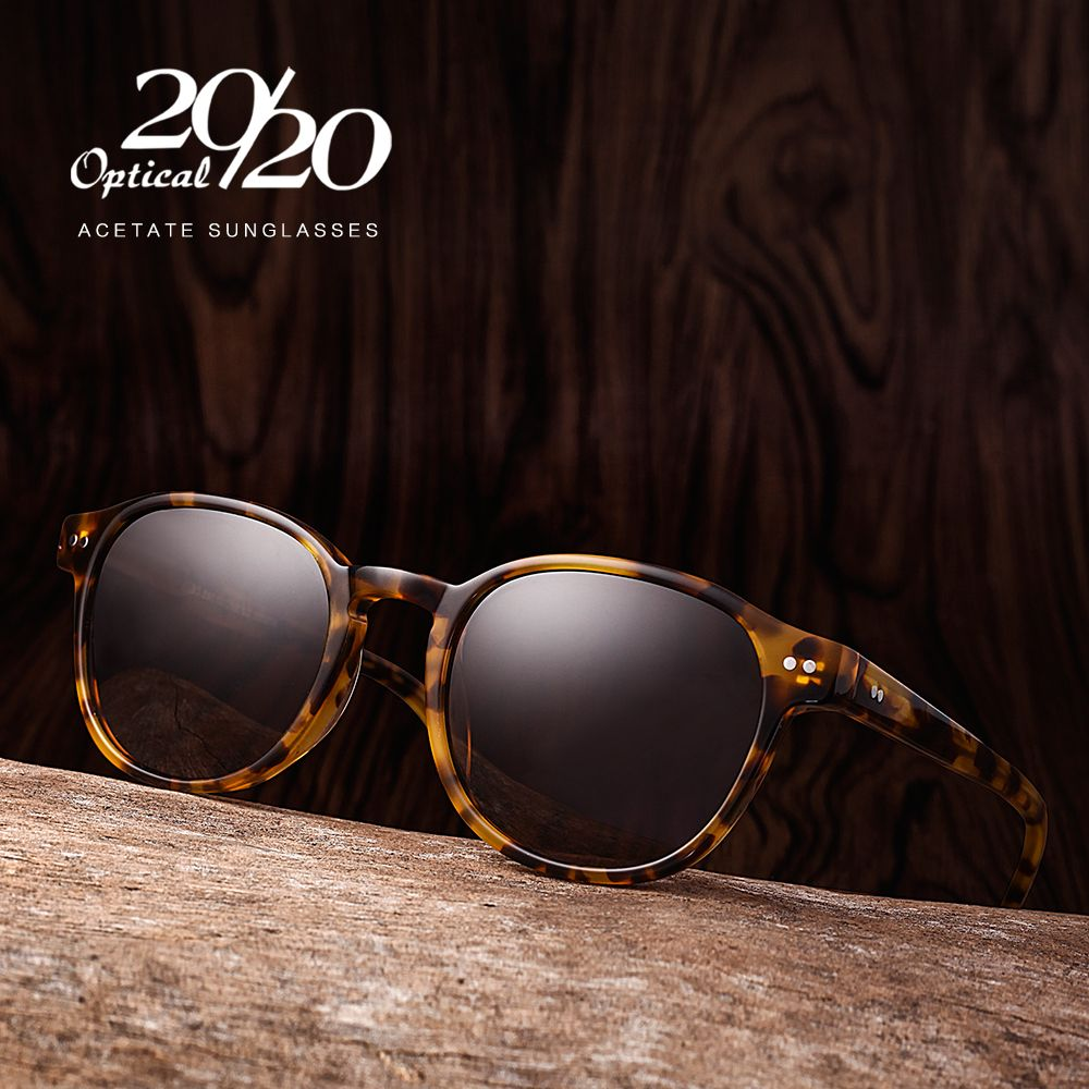 Classic Polarized Men Sunglasses Women Brand Designer Acetate Round Sun Glasses <font><b>Driving</b></font> Shades Unisex Eyewear Oculos AT8001