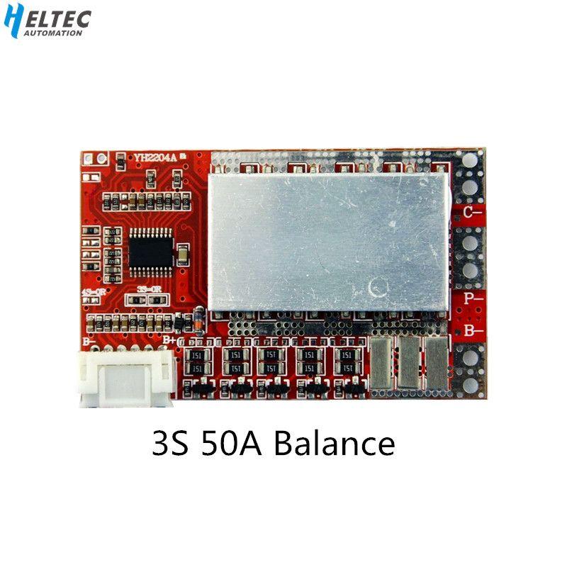 3 S 50A BMS Board/55A 3,7 V Lithium-batterie schutz bord/3,2 V eisen phosphat/LiFePO4 batterie BMS board mit Balance