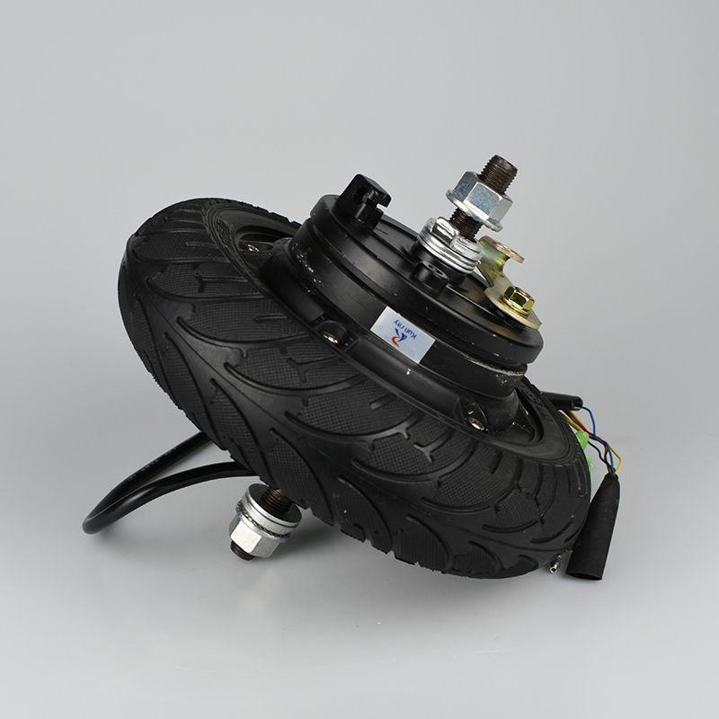 Wholesale 24V 36V 48V 350W 8inch Brushless Toothless Hub Wheel Motor For Electric Scooter Bicycle Hub Brake Motor Dropshipp