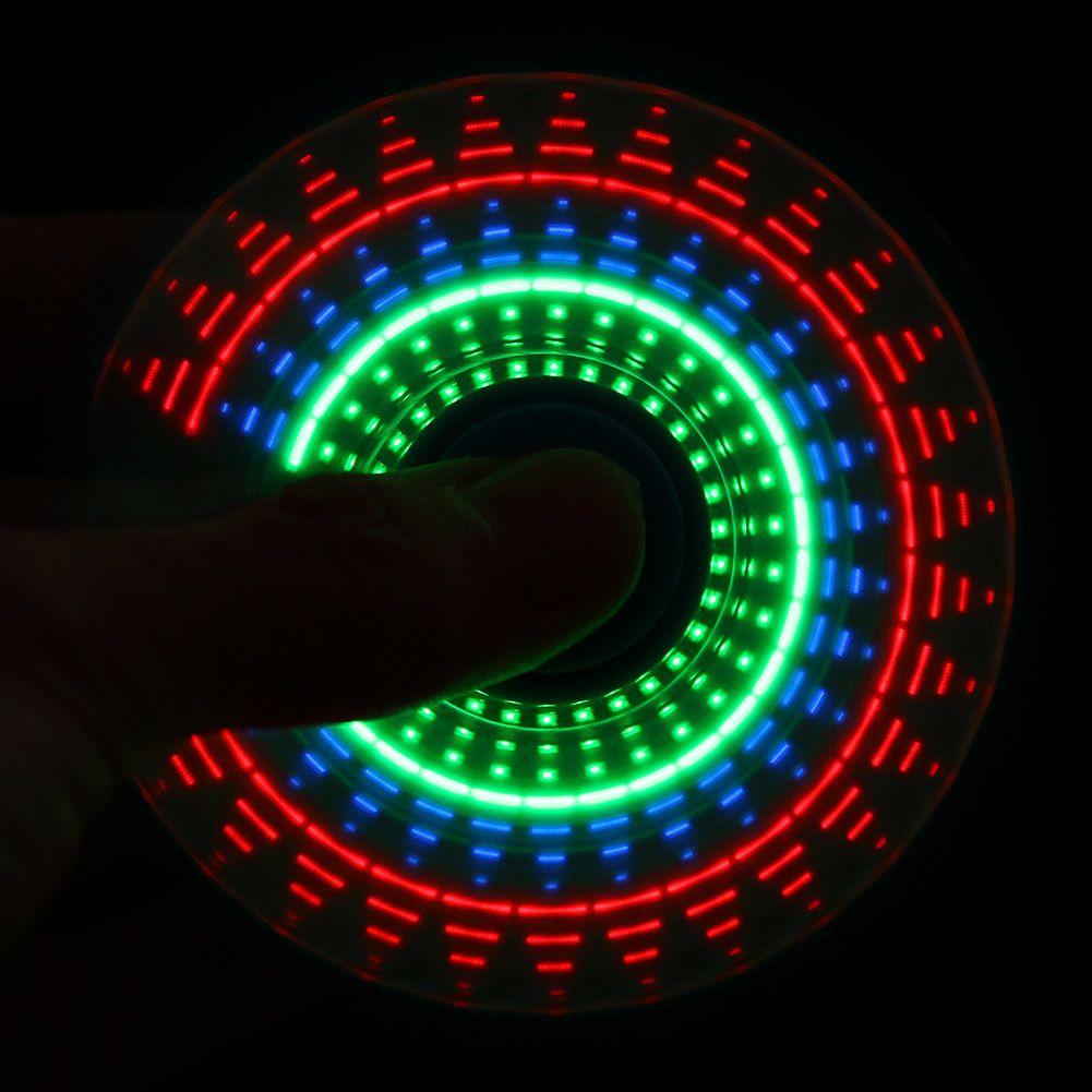 LED-Licht Regenbogen farbe Hand Spinner Finger Kunststoff EDC Zappeln Spinner Autismus Und ADHS Relief Fokus Angst Stress Rad Spielzeug