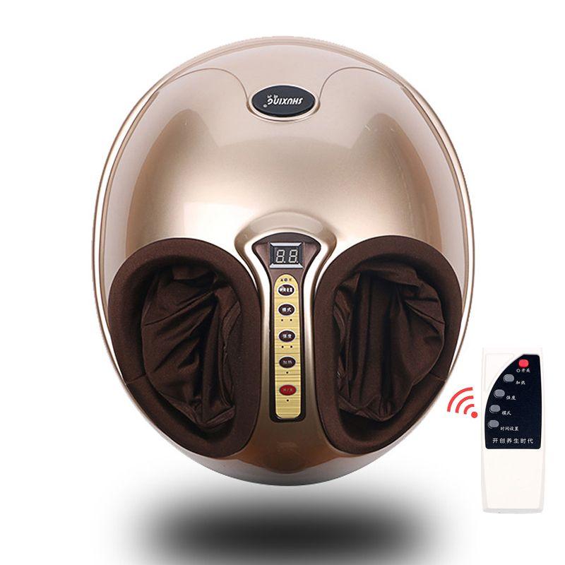 Kostenloser Versand RU Shiatsu Reflexzonenmassage Vibrationswalze Fußmassagegerät Gesundheit Massage Infrarot Heizung Elektrische Automaton Heizung