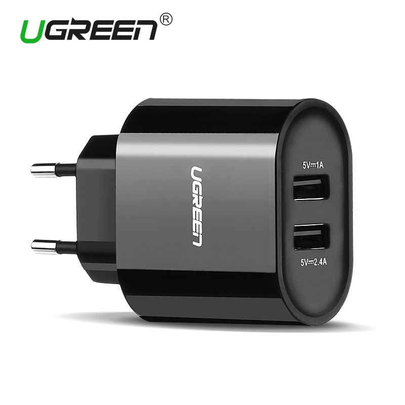 Ugreen 17W Fast USB Charger Dual USB Wall Charger Adapter Universal Mobile Phone Charger for iPhone 8 Samsung S8 Tablet Charger