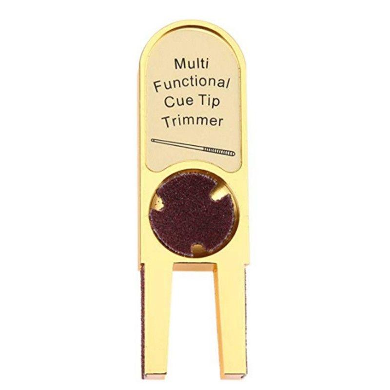 Réparateur billard brunisseur Nickel Shaper Snooker & billard accessoires muti-fonction U-forme solide alliage billard queue de billard T
