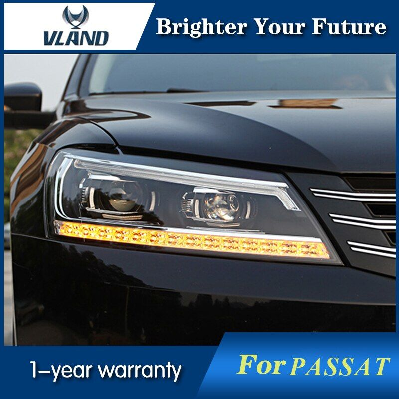 HID Headlights For Volkswagen Passat Head Lamp B7 US Verson