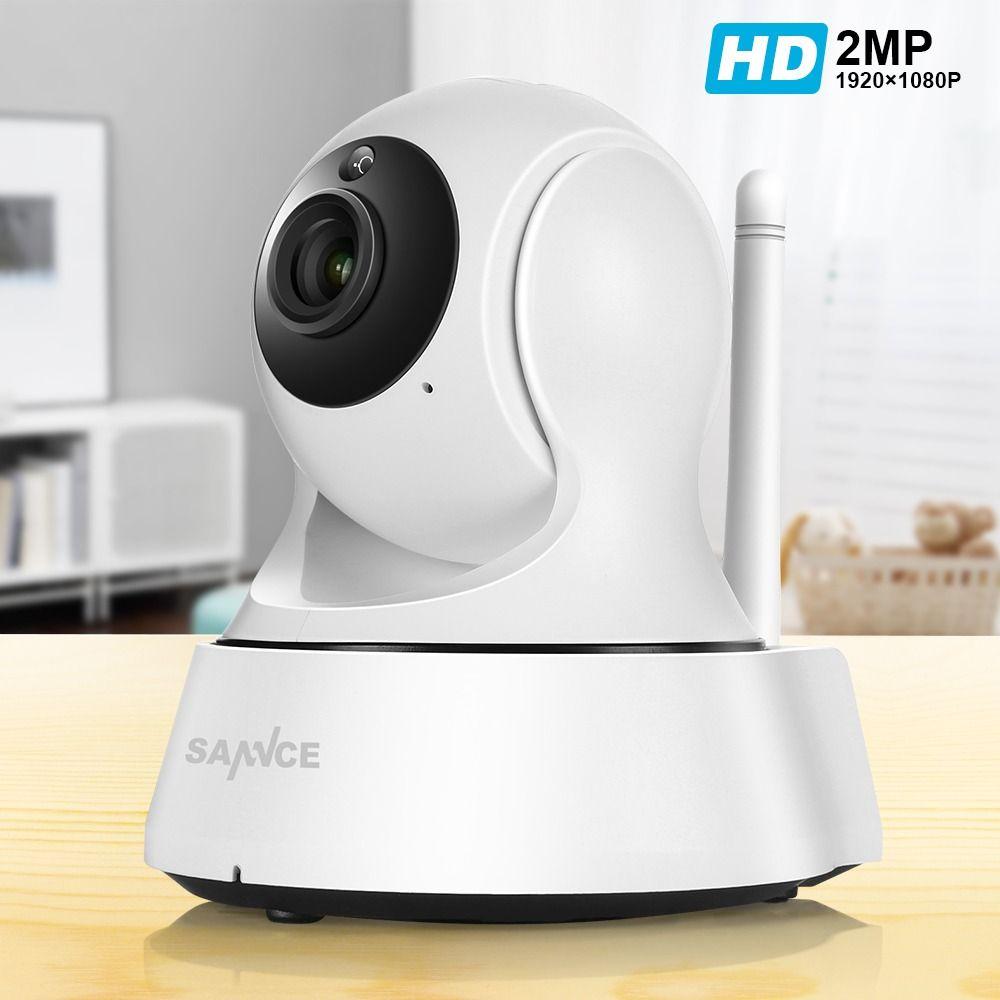 Caméra Wi-fi sans fil SANNCE 1080P Full HD Mini sécurité caméra de vidéosurveillance IP Surveillance réseau Wifi caméra de Vision nocturne intelligente IRCUT