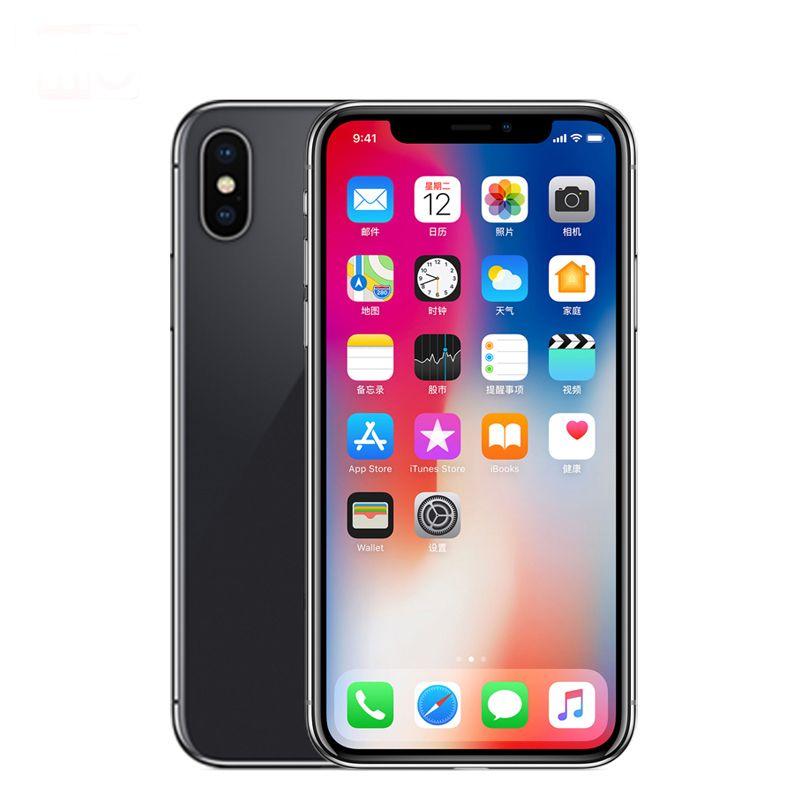 Unlocked Original Apple iphone X ROM 3GB RAM 64GB/256GB Face ID 12MP 5.8 inch 2716mAh Hexa Core iOS 4G LTE Smart Phone Face ID