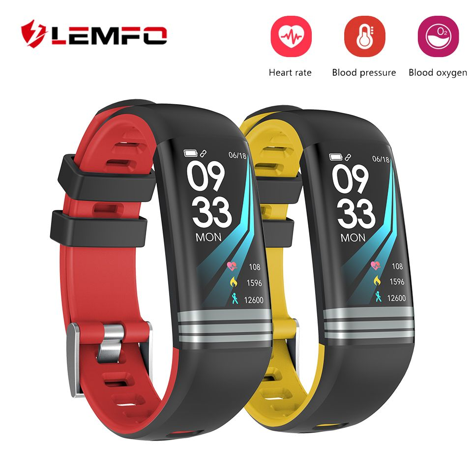 LEMFO Fitness Bracelet Smart Bracelet Pedometer Heart Rate Monitoring Blood Pressure Monitoring Waterproof IP67 Fitness Tracker
