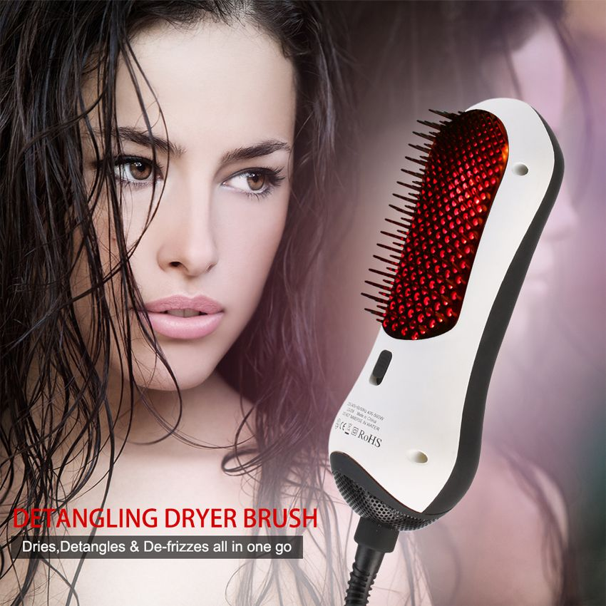 Infrared hair comb portable hot air comb combo straight two straight hair comb hot air comb Free Shipping