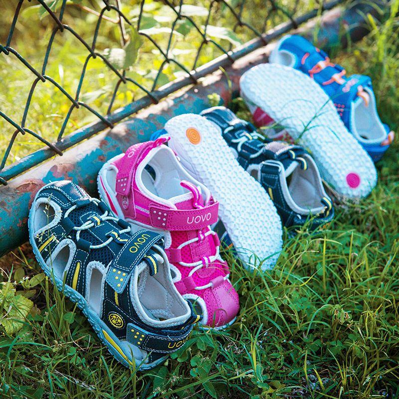UOVO classique enfants Parent sandales garçon sécurité enfants porter pour les filles antidérapant Sandalias Infantil filles chaussures #24-38
